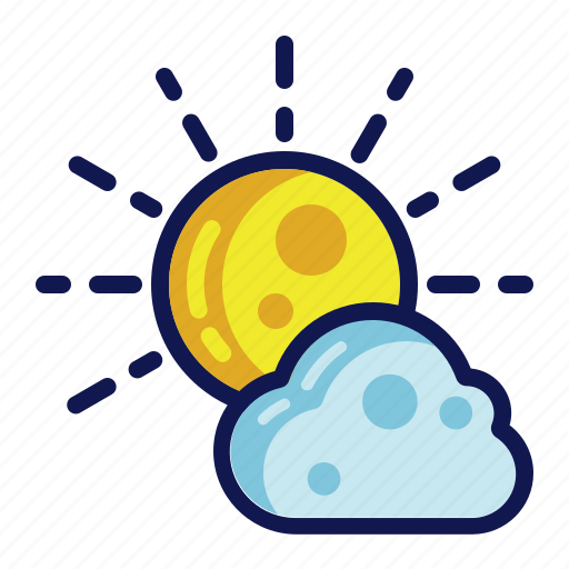afternoon, days, sun, weather icon