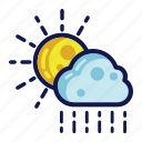 days, rain, weather icon