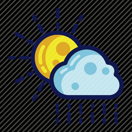 days, rain, weather icon