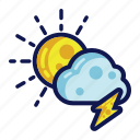 days, thunder, weather icon