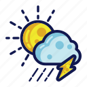 rain, storm, thunder, weather icon