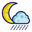night, rain, weather icon