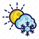 days, snow, weather, winter icon