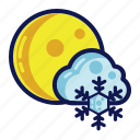 night, snow, weather, winter