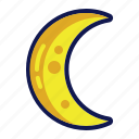 half moon, moon, night, weather icon