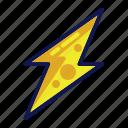 lightning, thunder, thunderbolt, weather icon