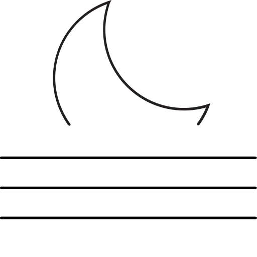 crescent, meteo, moon, night, rise, weather icon