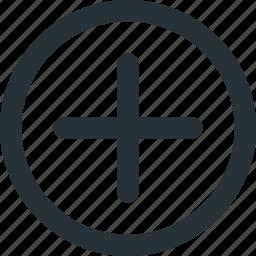 add, addition, control, plus, ui icon