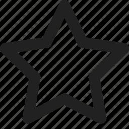 bookmark, essential, favourite, spark, star, ui icon