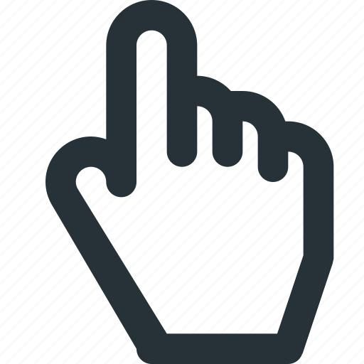 cursor, finger, hand, index, link, pointer icon