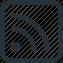 blog, feed, internet, news, rss, web icon