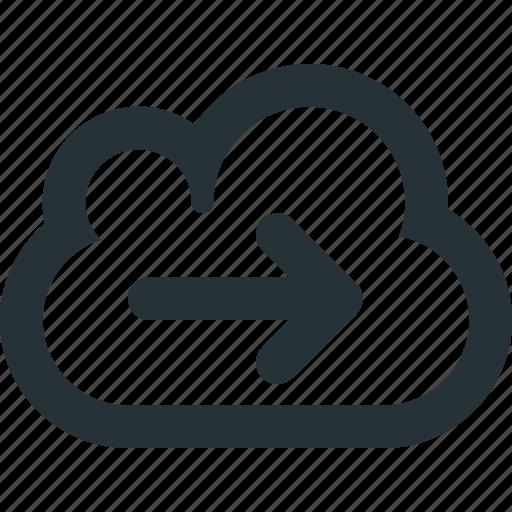 cloud, data, internet, online, storage, transfer icon
