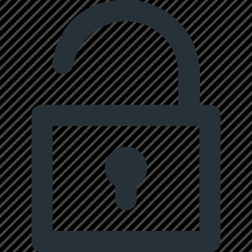 lock, open, safety, security, unlock, unlocked icon