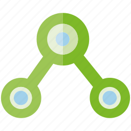 connect, dot, link, share icon