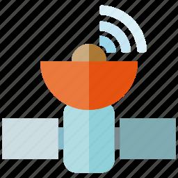 information, network, satellite, space, spacecraft, transmission icon