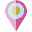 location pin, map pin, pin icon