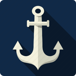anchor, building, link, marine, nautical, saving, tools icon