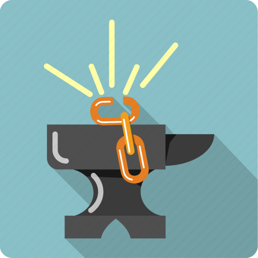 anvil, broken, chain, construction, gear, link, tools icon