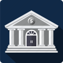bank, budget, building, business, cash, dolar icon