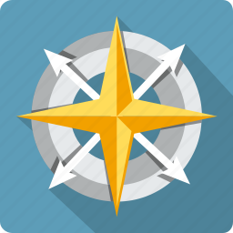 arrow, compass, direction, gps, map, navigation, pointer icon