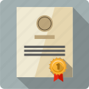 award, certificate, diploma, document, official, page, prize icon