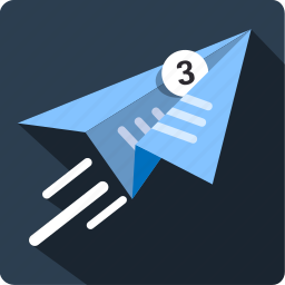 airplane, document, email, flight, mail, message icon