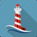 construction, lighthouse, location, marine, navigation, sea, tower icon