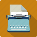 journalist, machine, text, typewriter, writer icon