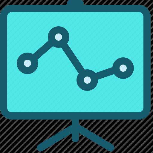 analytics, blackboard, chart, diagram, graph, presentation, statistics icon