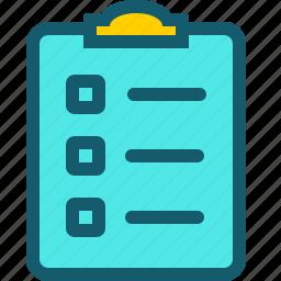 checklist, data, document, file, list, report, sheet icon