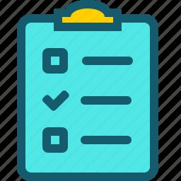 check, checklist, checkmark, document, success icon