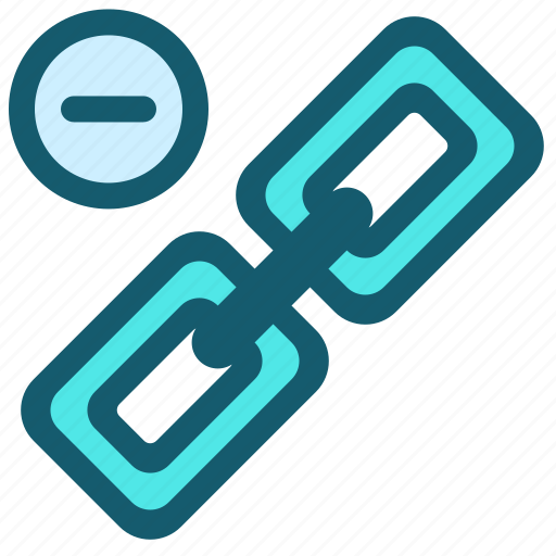 disconnect, hyperlink, link, minus, network, share icon
