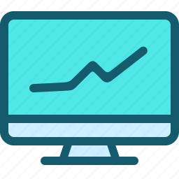 analytics, chart, diagram, graph, monitoring, presentation, statistics icon