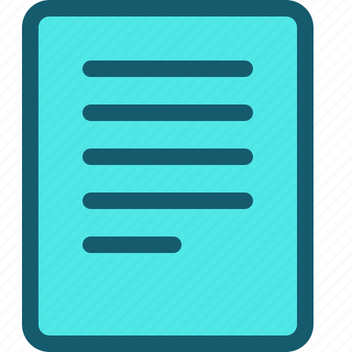data, document, file, page, text, type icon