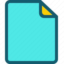 document, file, format, page, type icon