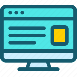 browser, communication, interface, internet, page, site, website icon
