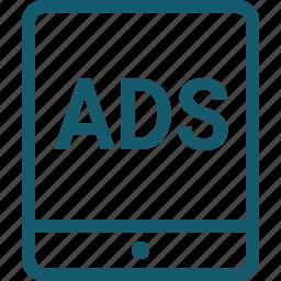 ads, advertising, marketing, mobile, optimization, seo, smartphone icon