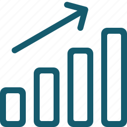 analytics, arrow, chart, diagram, graph, statistics, up icon