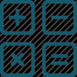 calculate, calculator, finance, math, mathematics icon
