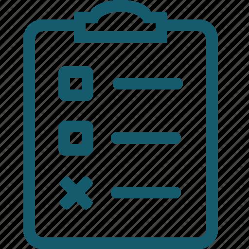 accept, check, checklist, document, file, list, mark icon