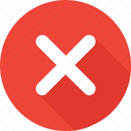 cancel, close, cross, delete, false, red, wrong icon
