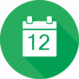 calendar, date, event, green icon