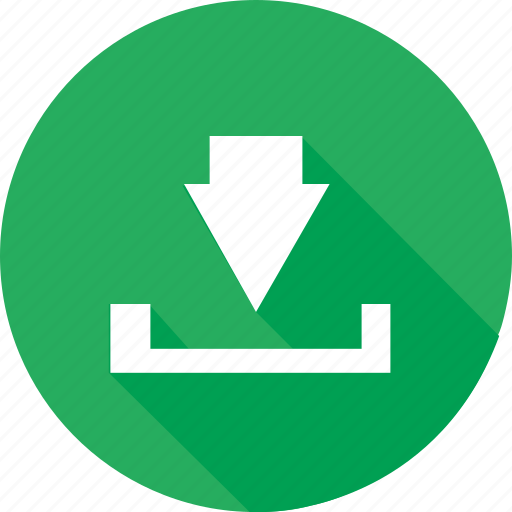down arrow, download, green, guardar, save icon