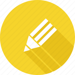 drawing, edit, illustration, pencil, yellow icon