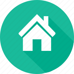 blue green, building, construction, estate, home, real icon