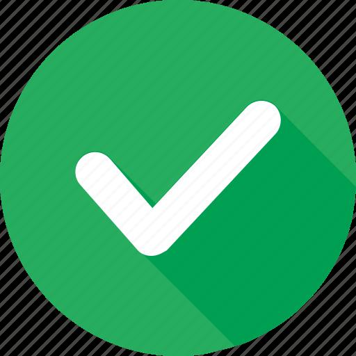 check, correct, green, interface, mark, ok, tick icon