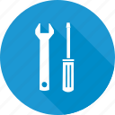 maintenance, screw driver, tools, wrench icon