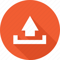 arrow, arrows, orange, up, upload icon