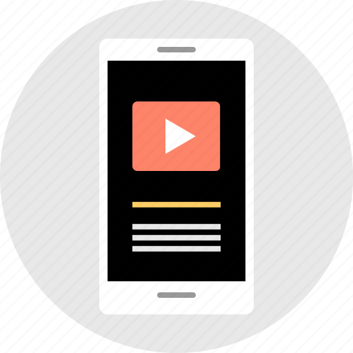 mobile, technology, youtube icon