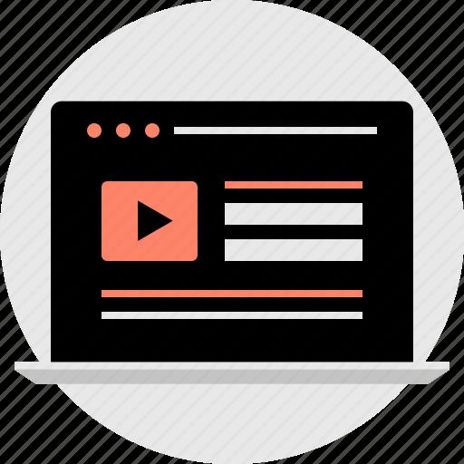 technology, vid, videos, youtube icon